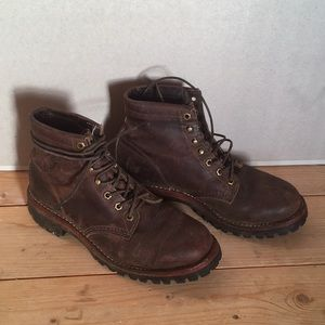 Chippewa leather motorcycle boots